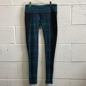 Alo green and black legging, sz xs, 61089